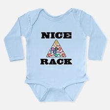Pool Nice Rack Long Sleeve Infant Bodysuit