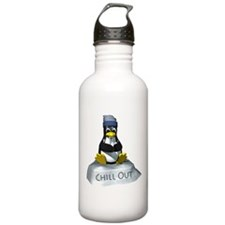 Chill Out Penguin Water Bottle