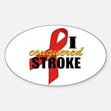 I Conquered Stroke Sticker (Oval)