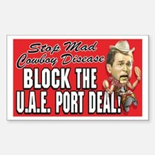 Stop UAE Port Deal Rectangle Decal