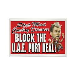 Stop UAE Port Deal Rectangle Magnet