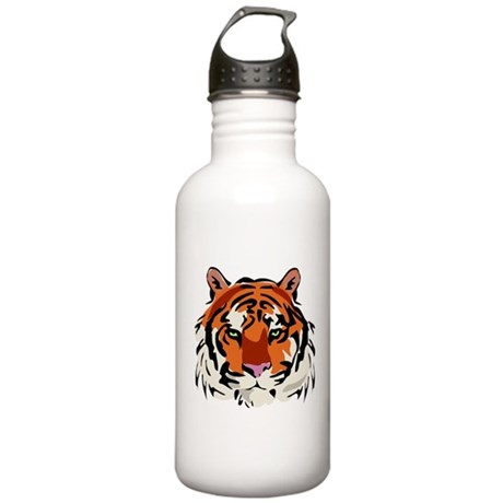 Realistic Tiger Head Stainless Water Bottle 1.0L