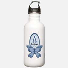 Believe- Blue Awareness Sports Water Bottle