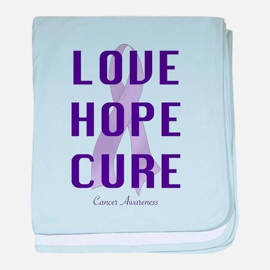 Cancer Awareness (lhc) baby blanket