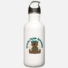 Ovarian Cancer Bear Water Bottle