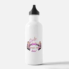 Girls pump iron too! Water Bottle