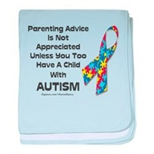 Parenting Autism (advice) baby blanket