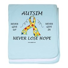 Autism Hope baby blanket