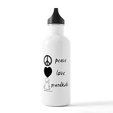 Peace Love Grandkids (b) Water Bottle