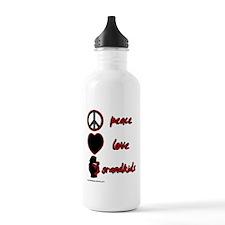 Peace Love Grandkids (r) Water Bottle