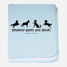Shelter Dogs baby blanket