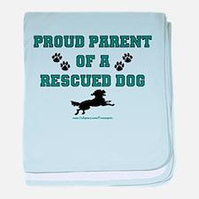 Rescue Dog Parent baby blanket