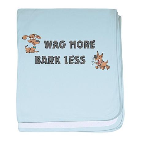 Bark Less baby blanket