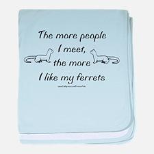 Like My Ferrets baby blanket