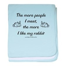 Like My Rabbit baby blanket