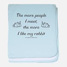 Like My Rabbit baby blanket