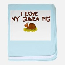 Guinea Pig Love baby blanket