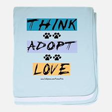 Think Adopt Love baby blanket