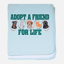 Adopt A Friend baby blanket