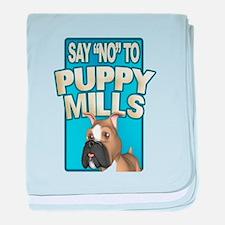 Stop Puppy Mills baby blanket