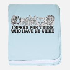 Animal Voice baby blanket