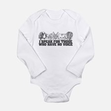 Animal Voice Long Sleeve Infant Bodysuit