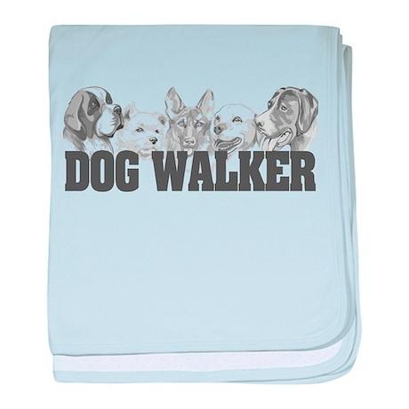 Dog Walker baby blanket