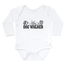 Dog Walker Long Sleeve Infant Bodysuit