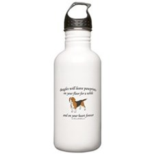 Beagle Pawprints Water Bottle