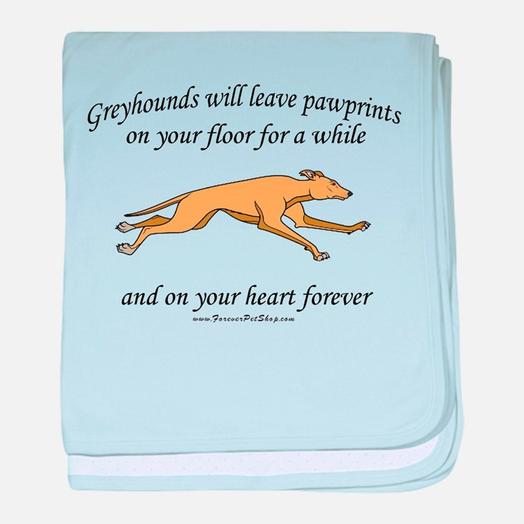 Greyhound Pawprints baby blanket