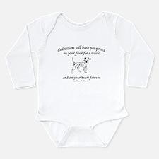 Dalmatian Pawprints Long Sleeve Infant Bodysuit