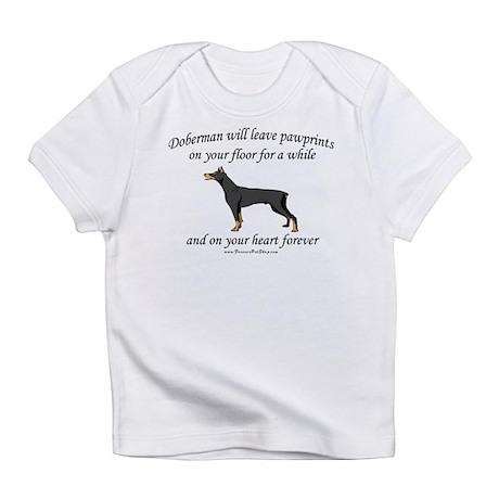 Doberman Pawprints Infant T-Shirt