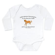 Golden Retriever Pawprints Long Sleeve Infant Body