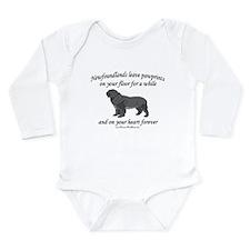 Newfoundland Pawprints Long Sleeve Infant Bodysuit