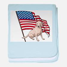 USA Lab baby blanket