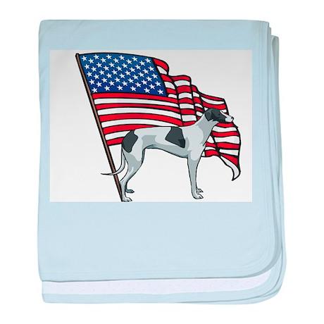 USA Greyhound baby blanket