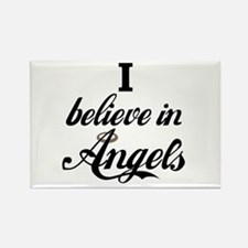 I BELEIVE IN ANGELS Rectangle Magnet