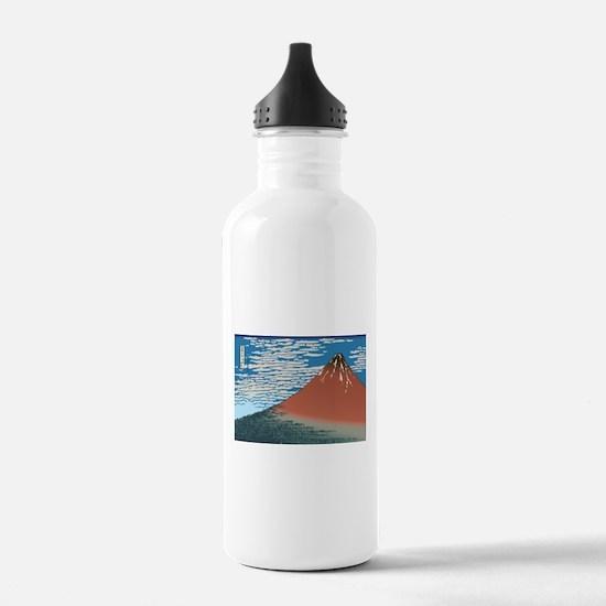 Hokusai Red Fuji Water Bottle