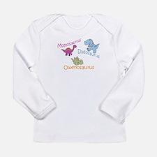 Mom, Dad & Owenosaurus Long Sleeve Infant T-Shirt