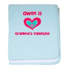 Owen is Grandma's Valentine baby blanket