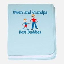 Owen & Grandpa - Best Buddies baby blanket