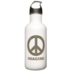 Vintage Imagine Peace Water Bottle