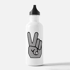 Peace Hand Symbol Water Bottle