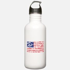 Vintage Peace In America Water Bottle