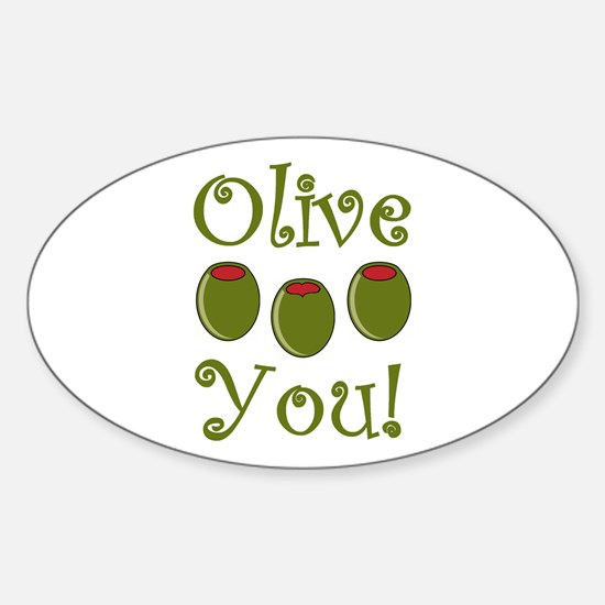 Ollive You Sticker (Oval)