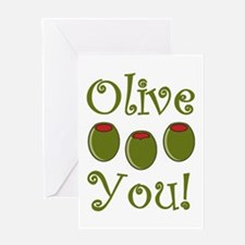 Ollive You Greeting Card