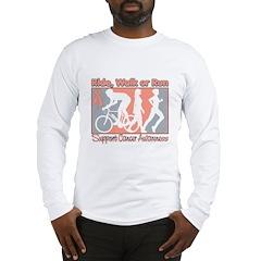Uterine Cancer RideWalkRun Long Sleeve T-Shirt