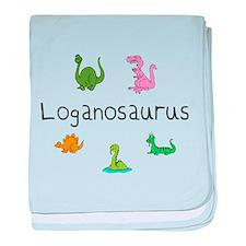 Loganosaurus baby blanket