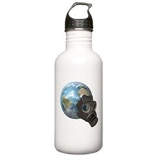 Gas Mask Earth Water Bottle