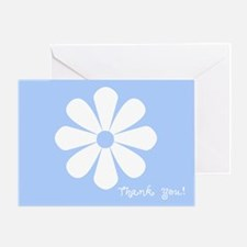 Thank You: (blue) Greeting Card